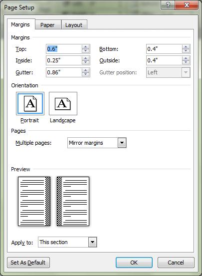 page-setup